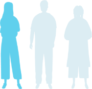 graphic highlighting one person out of three